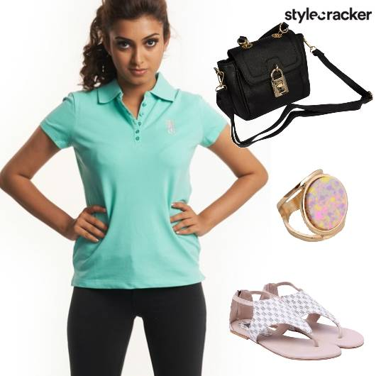 Casual Tee StrappyFlats  - StyleCracker