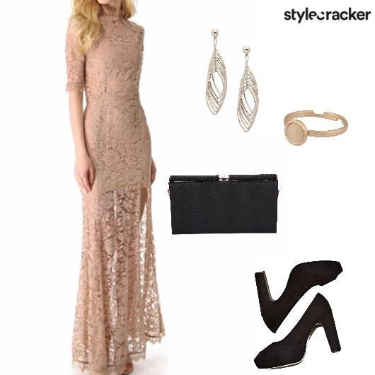 Maxidress Peeptoes Party  - StyleCracker