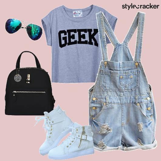 Croptop Backpack Dungarees Casual - StyleCracker
