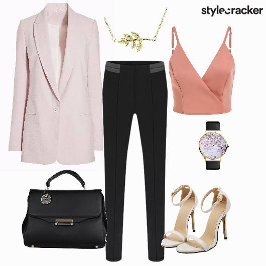 Formal Workwear Croptop Blazer Stilletos - StyleCracker