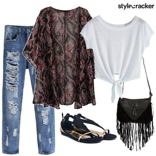 Casual Kimono TieUpTee Chilling - StyleCracker