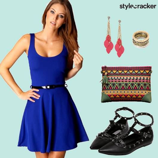 SkaterDress AztecClutch MultiRings   - StyleCracker