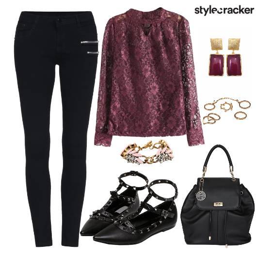 Top Lace Accessories Bag Shoes - StyleCracker