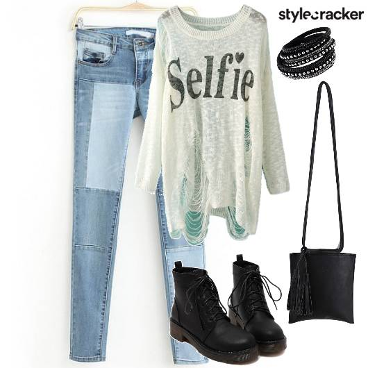 Denim Sweater Casual  - StyleCracker