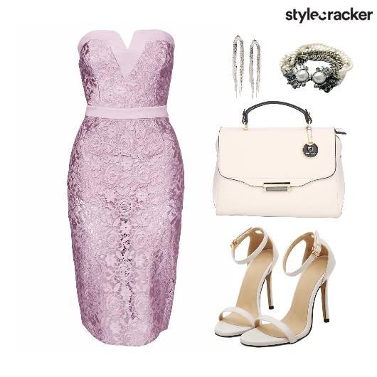 Lace Dress Dinner Bag Shoes - StyleCracker