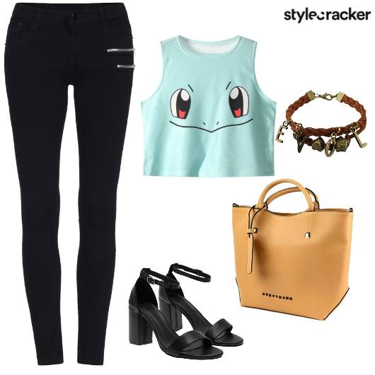 CropTop Jeggings Tote Casual  - StyleCracker