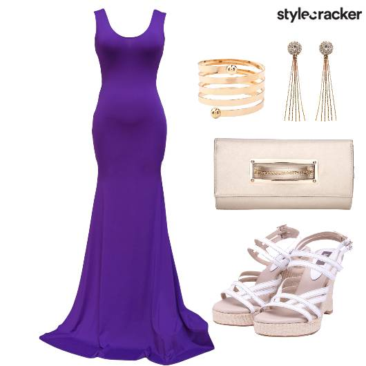 Gown Dress Party Shoes Clutch - StyleCracker