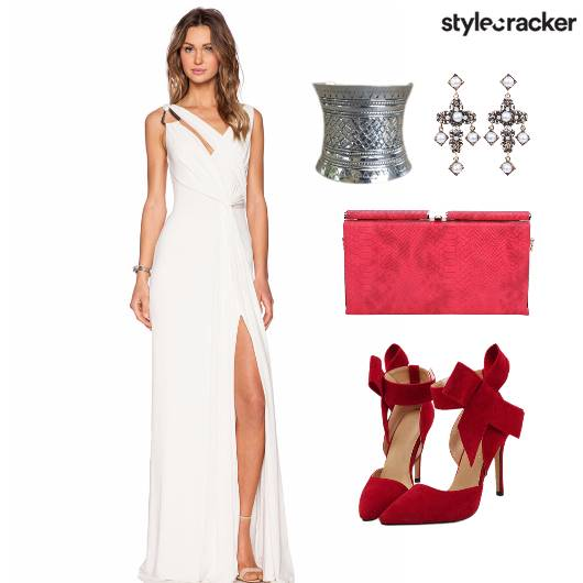 Dress Gown Accessories Bag Shoes - StyleCracker