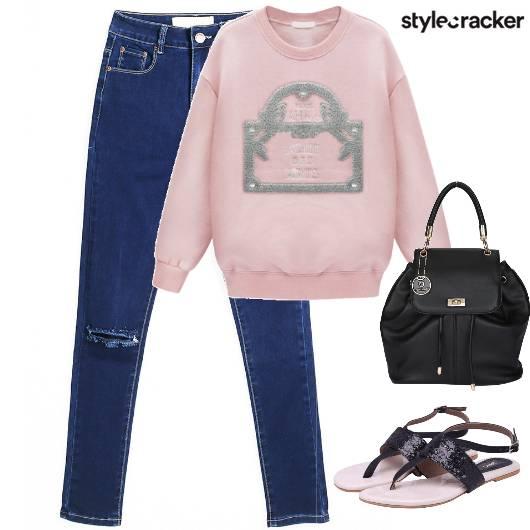 Denim RoseQuatz Sweatshirt Causal  - StyleCracker