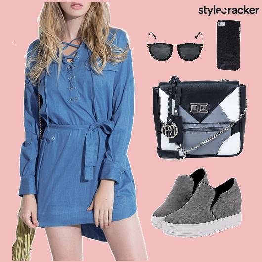Dress Denim Shoes Bag  - StyleCracker