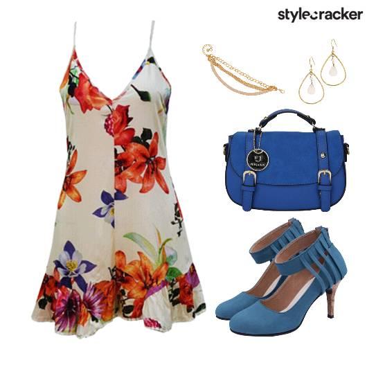 Print Floral Dress Shoes Bag - StyleCracker
