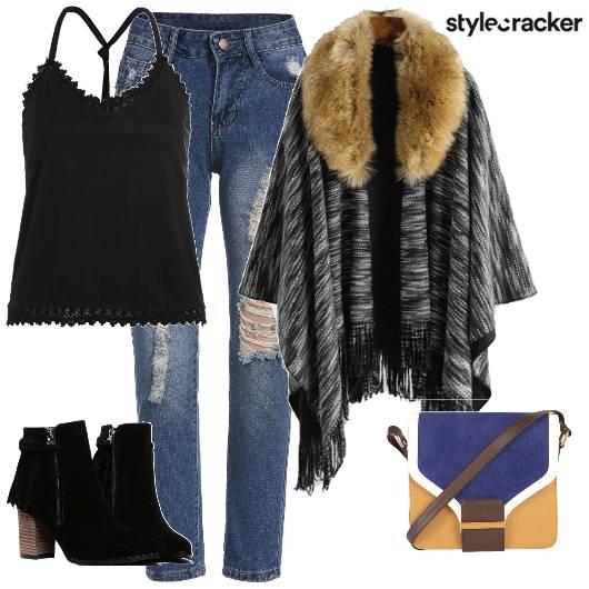Layer Cardigan Boots Winter - StyleCracker