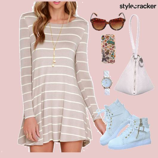 Dress Stripes Shoes Bag Watch - StyleCracker