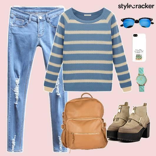 Top Casuals College Comfort Stripes - StyleCracker
