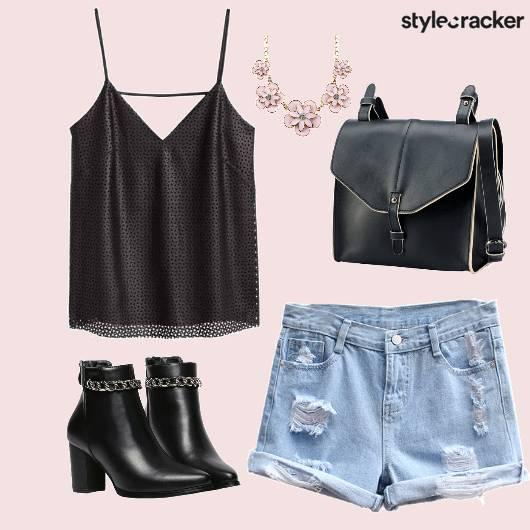 Top Shorts Bag Boots StatementNeckpiece - StyleCracker