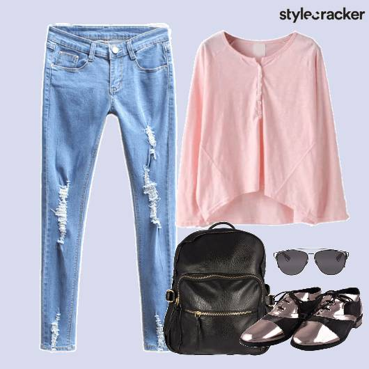 Top Denims Ripped Backpack Shoes - StyleCracker