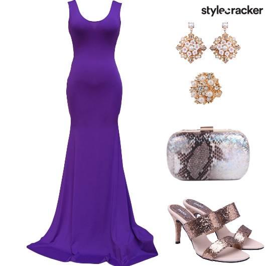 Evening Formal PurpleGown  - StyleCracker