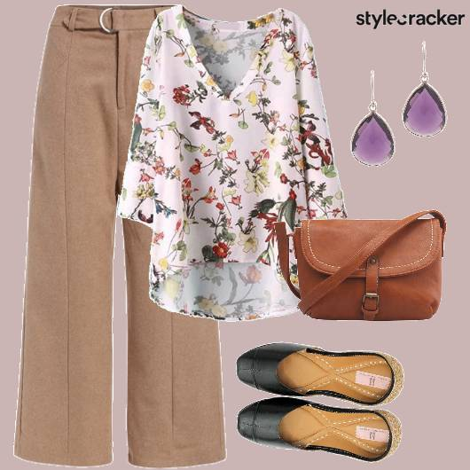 Pants Floral Tunic Casual  - StyleCracker