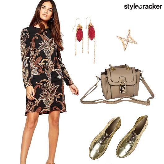 Dress MetallicShoes Prints  - StyleCracker