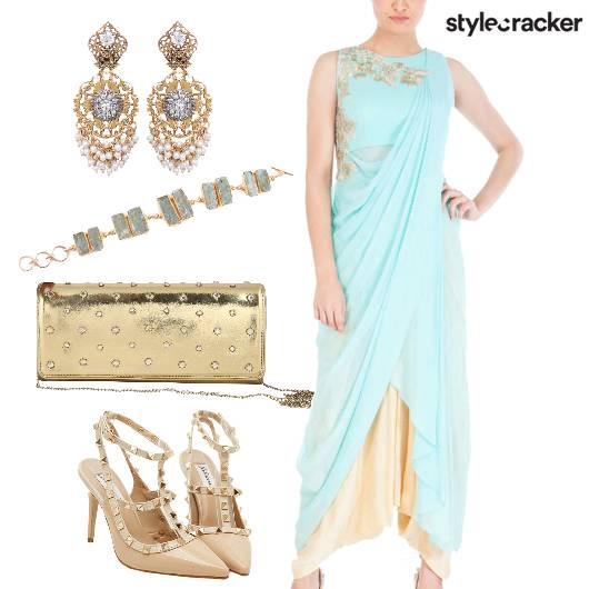 IndoWestern DrapeSari FormalIndian - StyleCracker