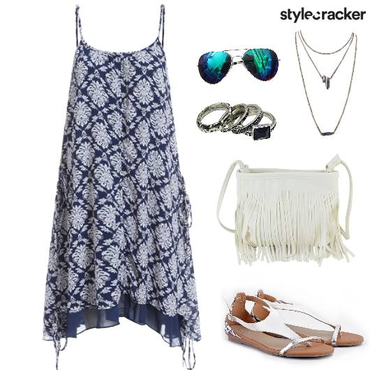Holiday Poolside PrintedDress - StyleCracker