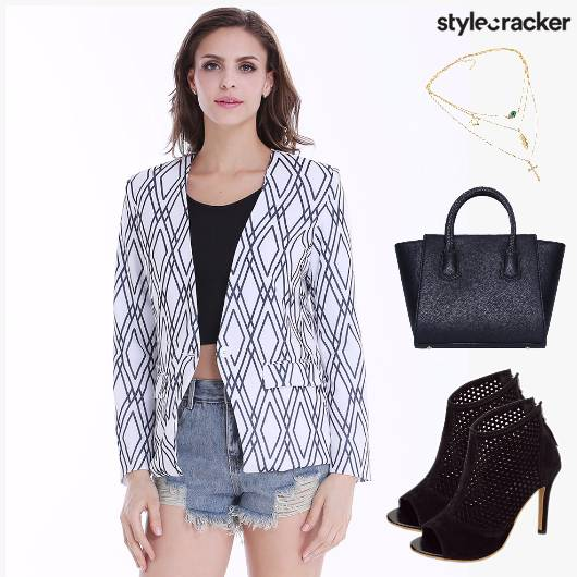 CasualMeetings Cutoffs Blazer CropTop - StyleCracker