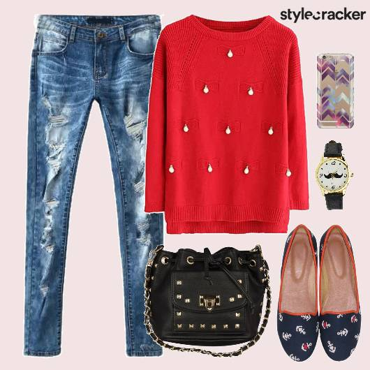 Sweater Denims Bag Shoes - StyleCracker