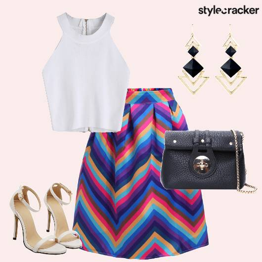 Prints Color Skirt Outing  - StyleCracker