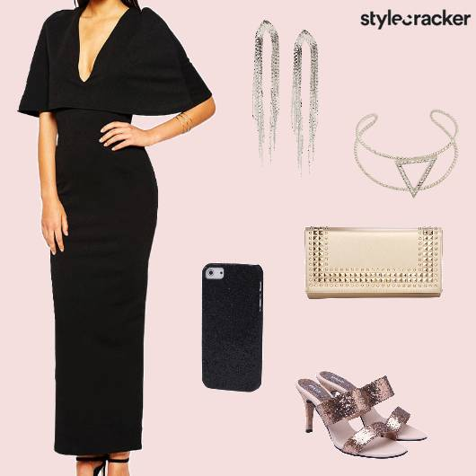 Maxidress Cape Bodycon Party  - StyleCracker