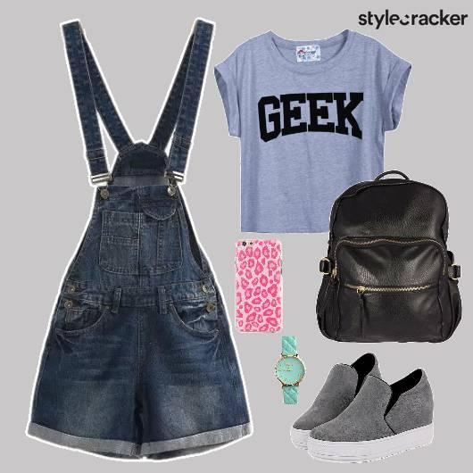 Denim Backpack Shoes PhoneCover - StyleCracker