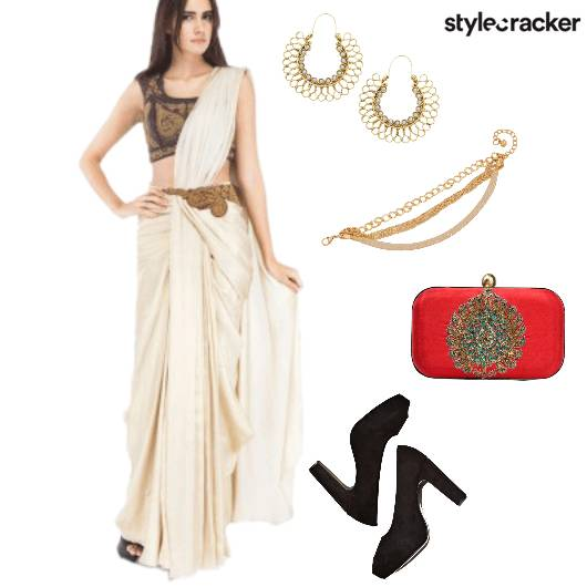 Saree Indian Festive  - StyleCracker