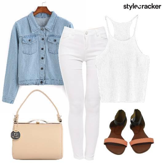 Denim Knit Whiter Layer WinterFashion - StyleCracker