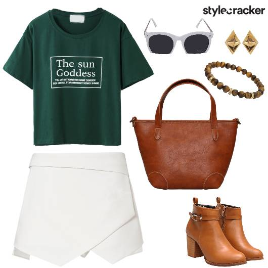 Skort T-Shirt Casual Work DressedUp - StyleCracker