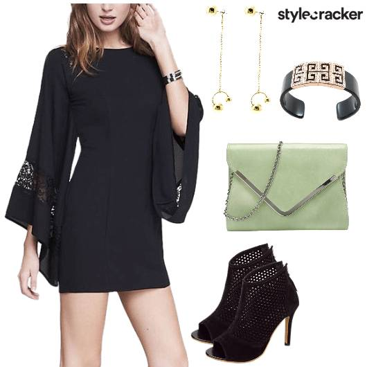FlaredSleeves Heels Party Night  - StyleCracker