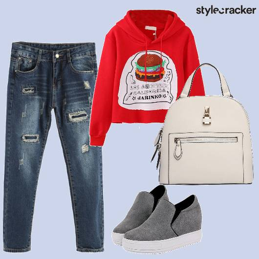 Ripped jeans Sweater Casual Winter - StyleCracker