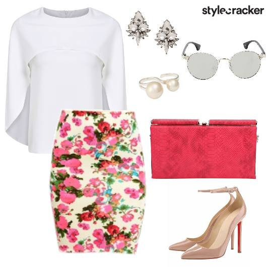 Floral Blouse Lunch Party Date  - StyleCracker