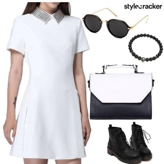 CollarDress Formal DayWear Winter Work Casual - StyleCracker