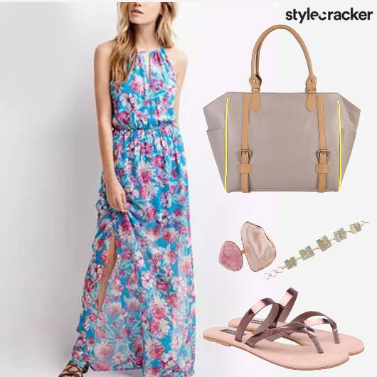 Floral Maxi Dress Vacation  - StyleCracker