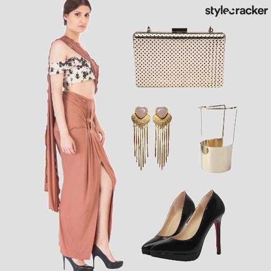 Drape Sari Indo Western  - StyleCracker