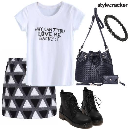 KnitSkirt PrintT-shirt Shoes DressedUp Winter  - StyleCracker