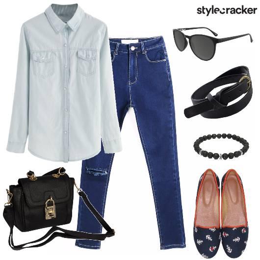 DenimOnDenim Casual College Shirt Winter - StyleCracker