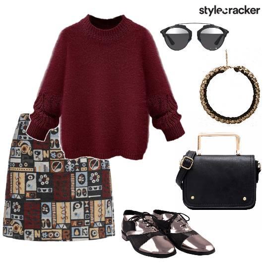 SweatShirt PrintSkirt MetallicShoes WinterFashion  - StyleCracker