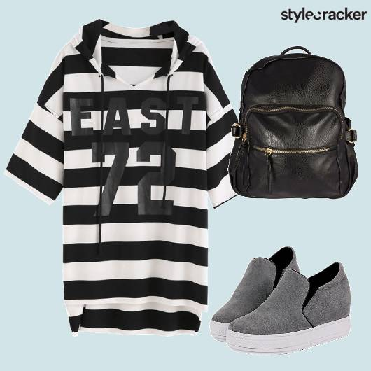 Monochrome Stripes Sneakers  - StyleCracker