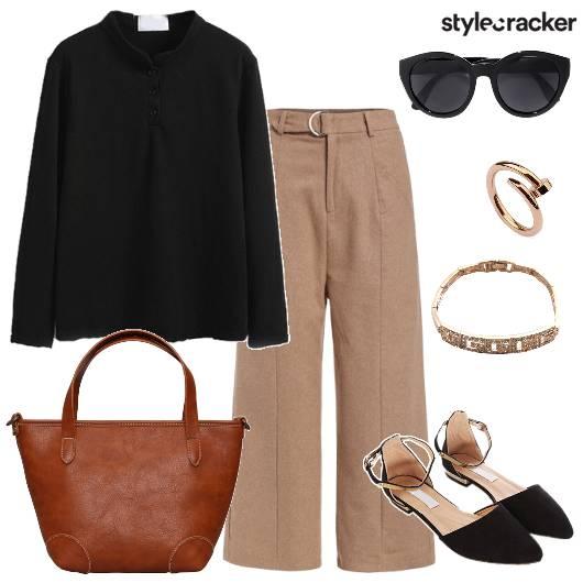 FlaredPants Shirt Work DayWear WinterFashion - StyleCracker