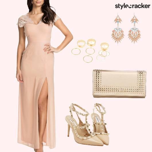 SlitMaxi Dress Party Evening Night  - StyleCracker