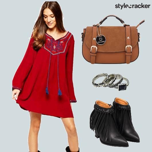 Flared Dress Fringe Boots  - StyleCracker