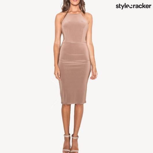 SCLOVES NUDE DRESS - StyleCracker
