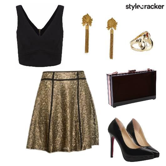 Sequin Skirt Croptop BirthdayNight Party  - StyleCracker