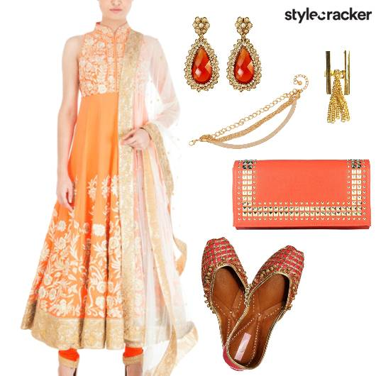 Wedding Indian Ethnic DayWear Anarkali - StyleCracker