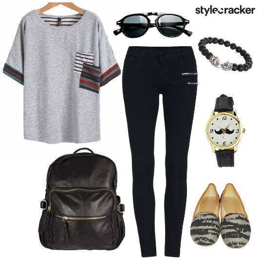 T-shirt Casual College Outdoor DayWear  - StyleCracker